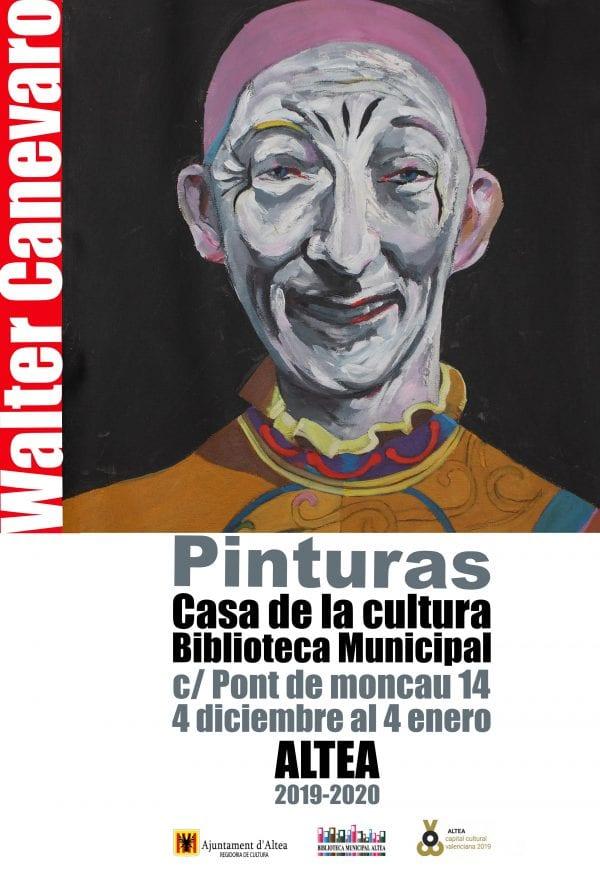 Pintures de Walter Canevaro s'inaugura hui a les 20 hores a la Casa de Cultura – Biblioteca Municipal (C/Pont de Moncau 14). Del 4 de desembre al 4 de gener.