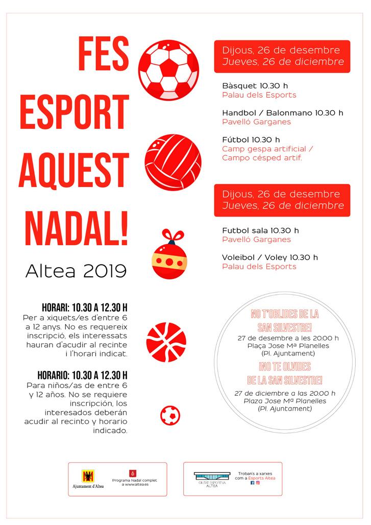 """Esports presenta una nova edició de """"Fes esport aquest Nadal"""" per al 26 i 27 de desembre"""