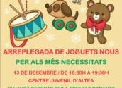 Joventut organitza una recollida solidària de joguets