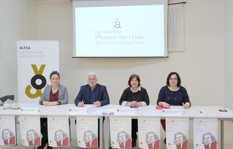 Altea y Valencia compartirán homenaje a Carmelina Sánchez-Cutillas en su año como  escritora valenciana