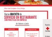 Creu Roja i Regidoria de Foment de l'Ocupació organitzen un curs gratuït de Servei en restaurants