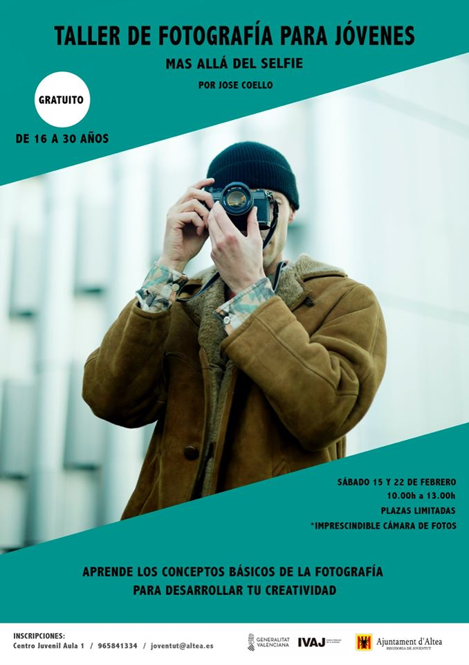 """Joventut organitza el taller de fotografia """"Més enllà del Selfie"""""""