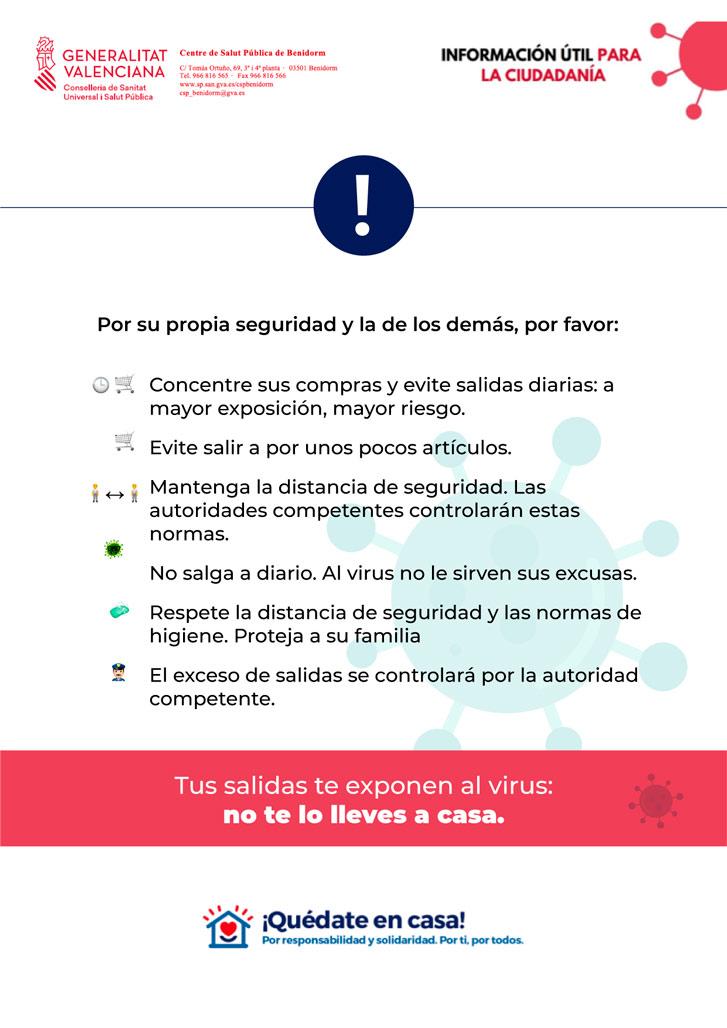 El Ayuntamiento de Altea traslada a la ciudadanía información útil emitida por Salud Pública contra el COVID-19