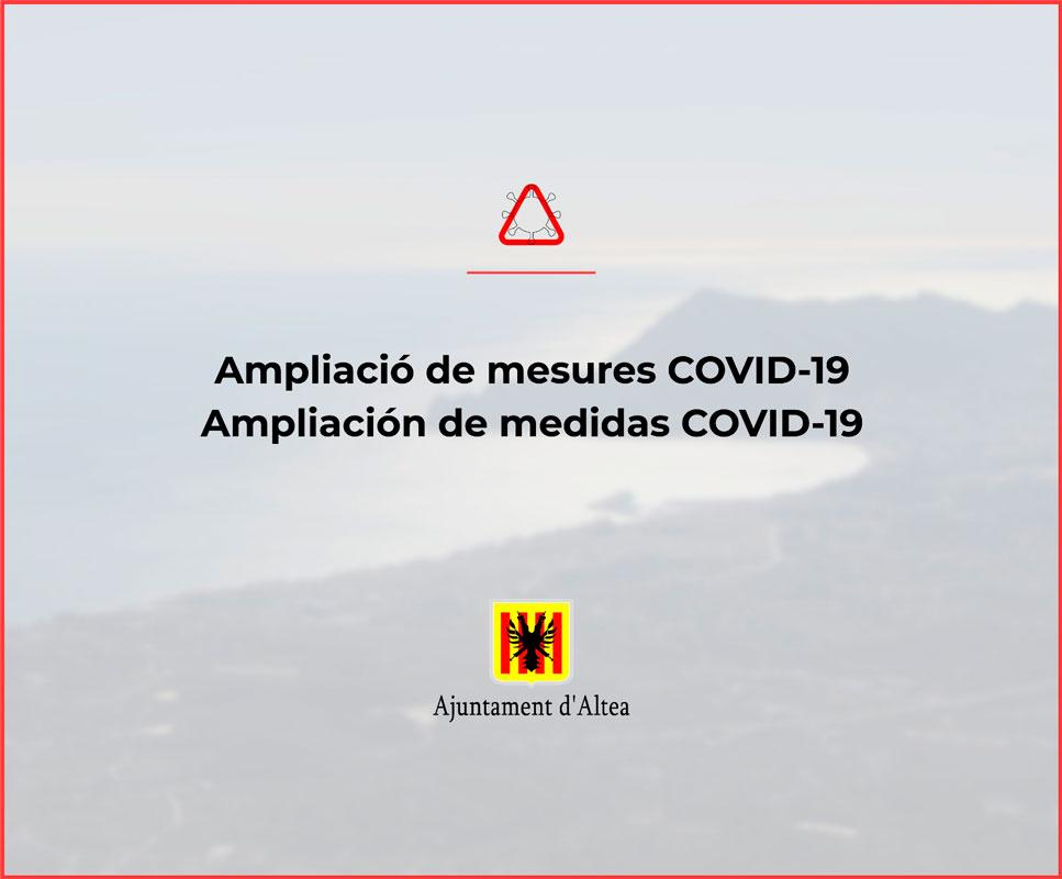 L'Ajuntament d'Altea amplia les mesures preventives respecte al Covid-19