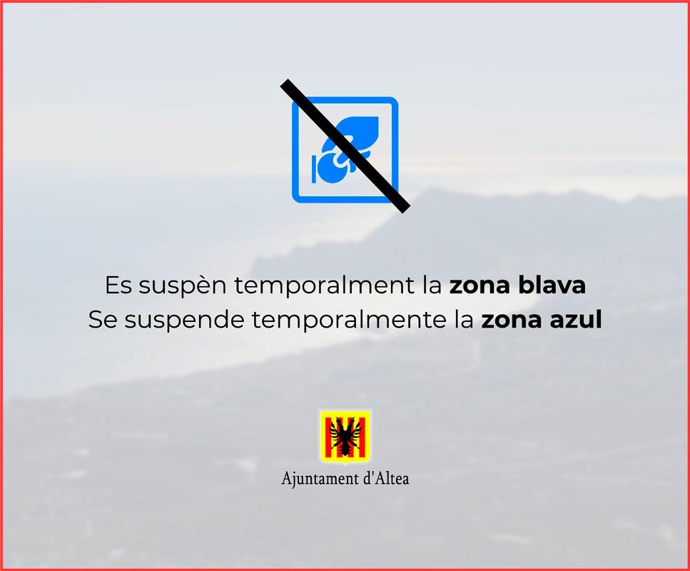 L'Ajuntament continua adoptant mesures de prevenció contra el Covid-19 i anuncia, fins a nou avís, la suspensió del pagament durant l'estacionament del vehicle en zona blava a tot el municipi