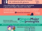 La concejalía de Igualdad, encabezada por Vicenta Pérez, se adhiere  a la campaña 'Ninguna mujer desprotegida' en la que se refuerza el Plan de Contingencia contra la Violencia de Género ante el COVID-19 y se amplia la protección de las víctimas de trata, explotación sexual y mujeres en contexto de prostitución