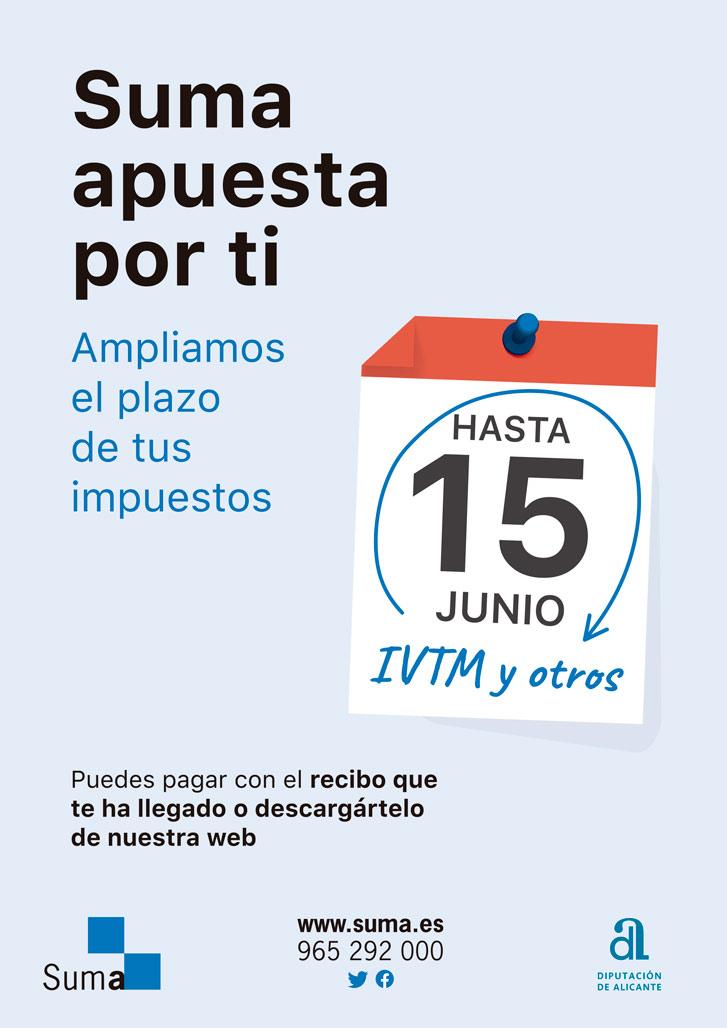 SUMA amplia el període de pagament voluntari d'impostos i taxes fins el 15 de juny