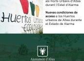 L'Ajuntament d'Altea podrà autoritzar, de forma excepcional, l'accés als horts urbans en l'estat d'alarma