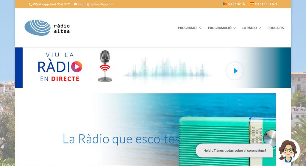 ''Alcaldia més a prop'', el programa més escoltat de Ràdio Altea en les últimes setmanes