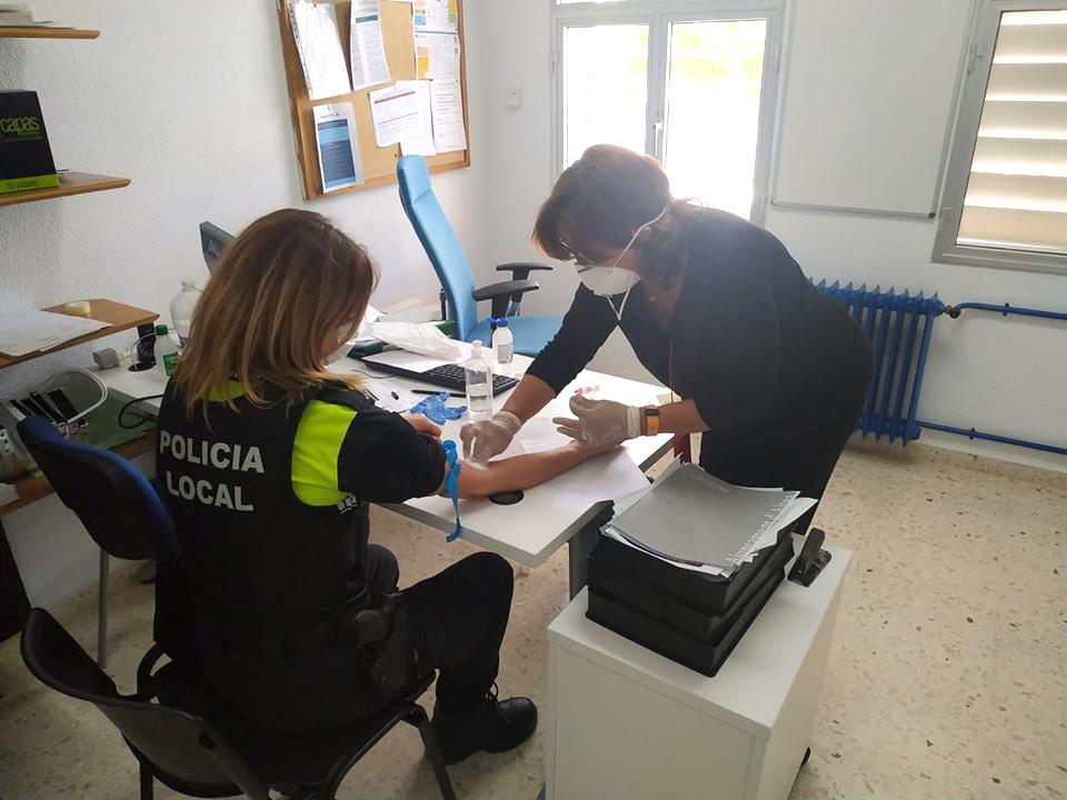 La Regidoria de Seguretat Ciutadana d'Altea realitza test als agents de la Policia Local i Protecció Civil
