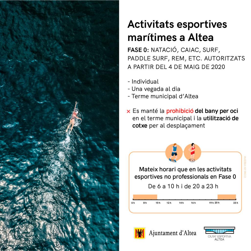 L'Ajuntament obri les platges del municipi a la pràctica esportiva individual