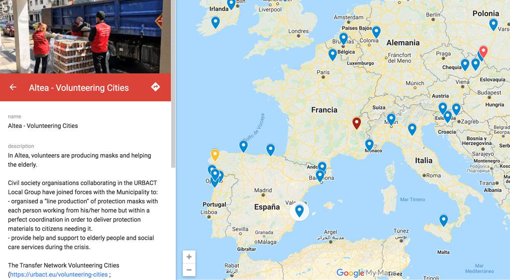 Altea, ciudad referente en España en voluntariado contra la pandemia del COVID-19