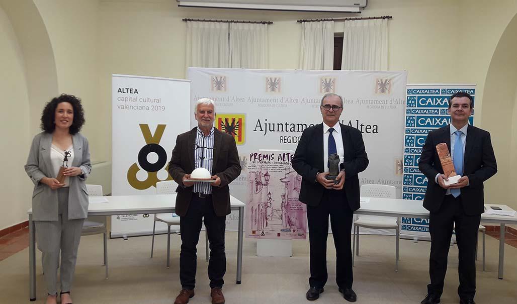Ferran Garcia-Oliver, Josep Escarré i Reig y Antonio Belda Antolí ganadores de Premis Altea 2020