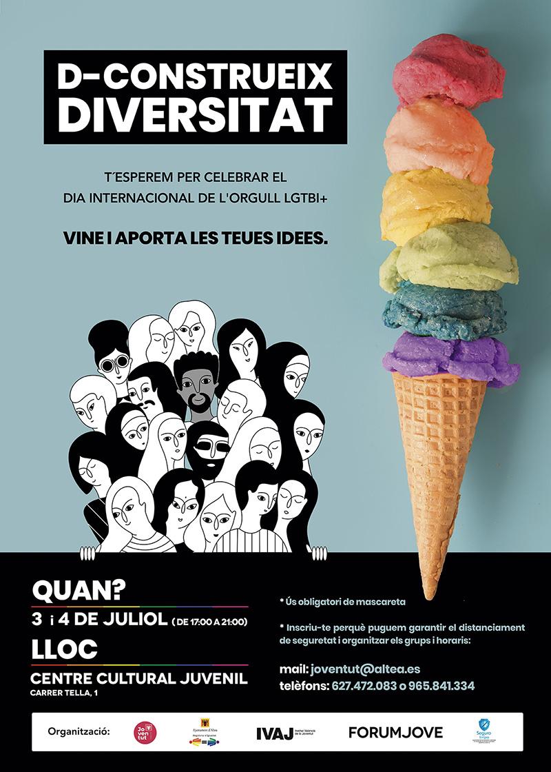 Juventud pone en marcha un mural participativo para conmemorar el día LGTBI+
