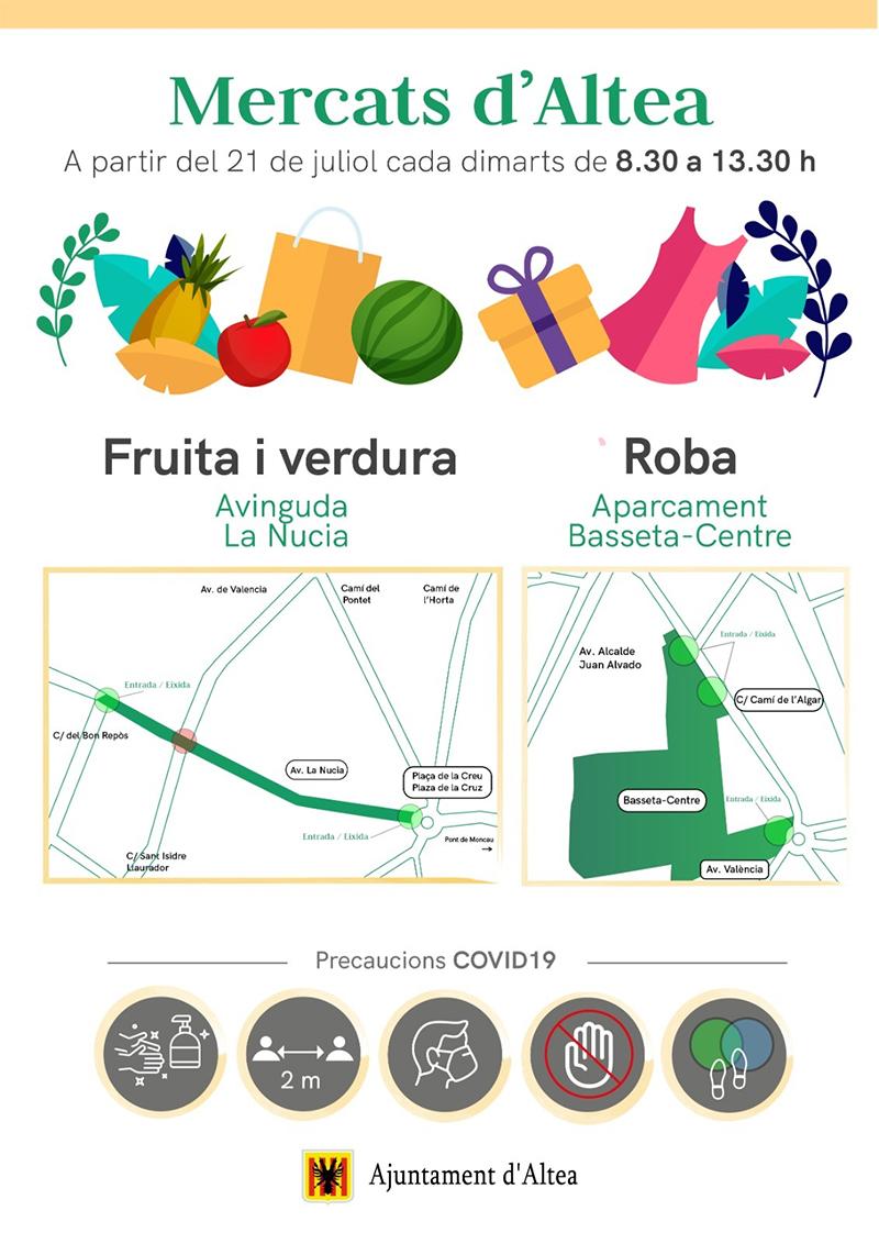 Torna el mercat de la roba en la seua nova ubicació de l'aparcament Basseta-Centre