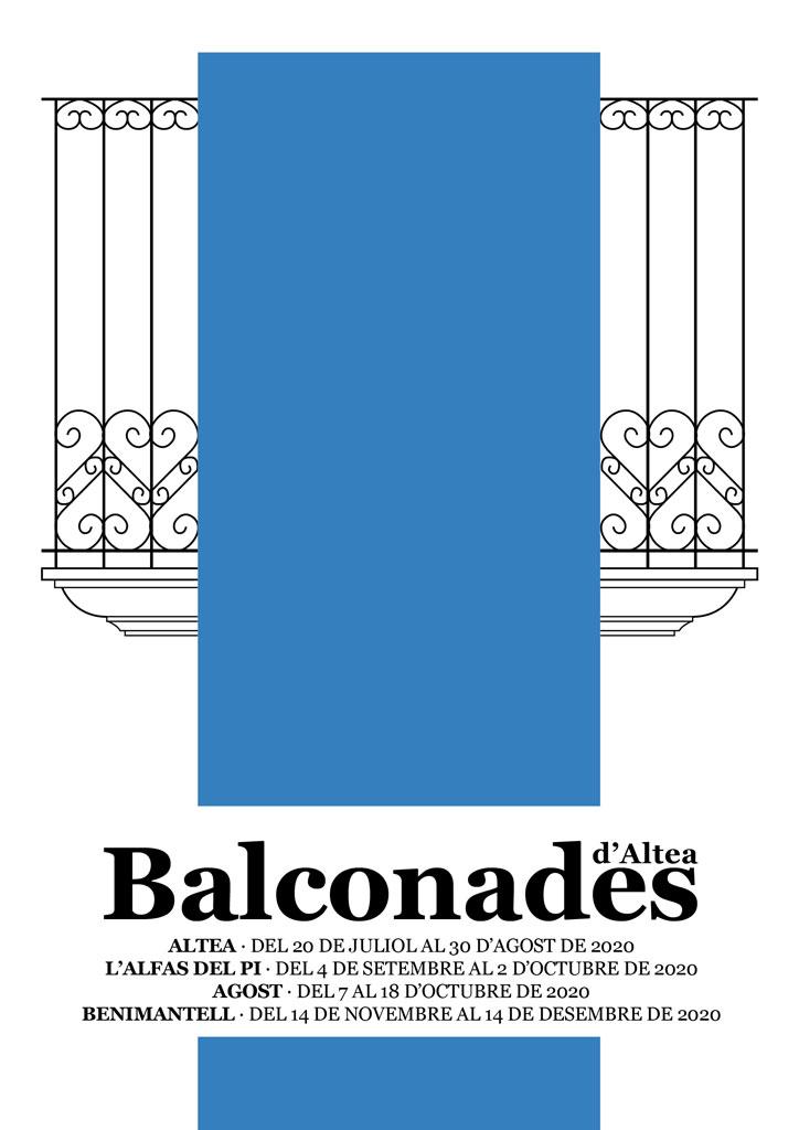Balconades d'Altea. Els llenços de 47 artistes ja pengen dels balcons del nucli antic d'Altea