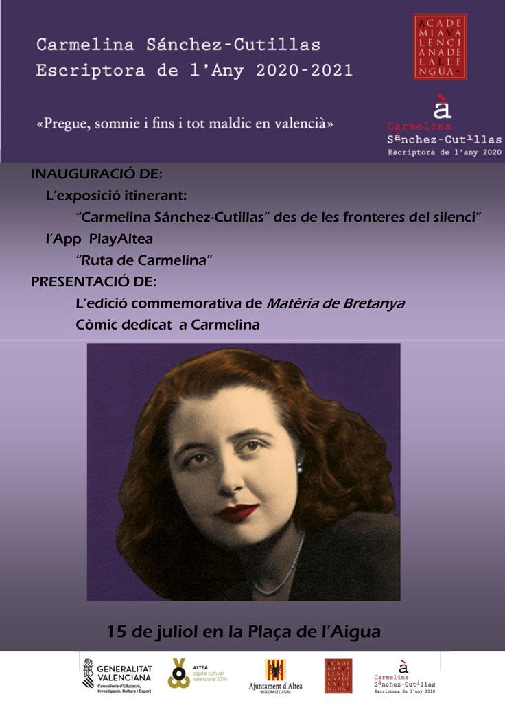 Altea acogerá la exposición itinerante dedicada a Carmelina Sáchez-Cutillas, ''Des de les fronteres del silenci''