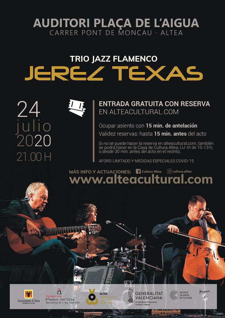 Cultura presenta el concierto de jazz flamenco que ofrecerá Jerez Texas