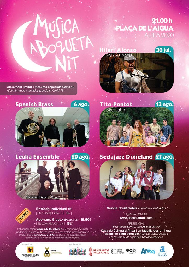 La música en directo vuelve este jueves con el ciclo ''Música a Boqueta Nit''