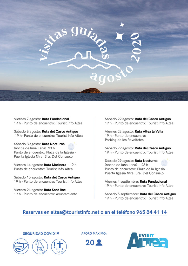 Turisme presenta l'oferta de visites guiades per al mes d'agost i primera setmana de setembre