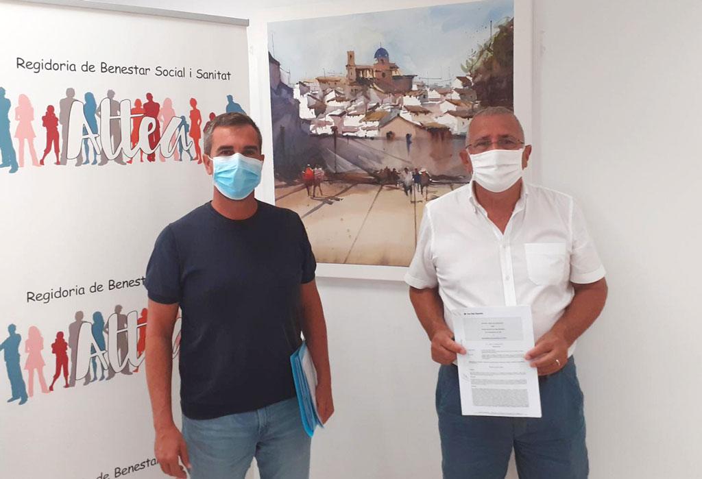 Benestar Social i Creu Roja Espanyola a Altea signen el conveni de col·laboració per a l'any 2020