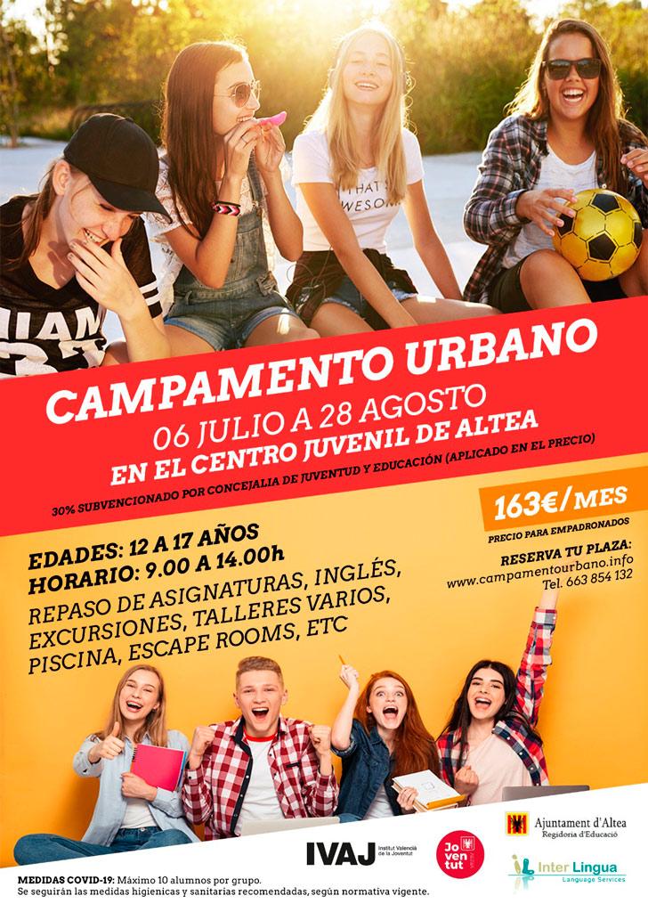 Últims dies d'inscripció per al Campamento Urbano de juliol i agost
