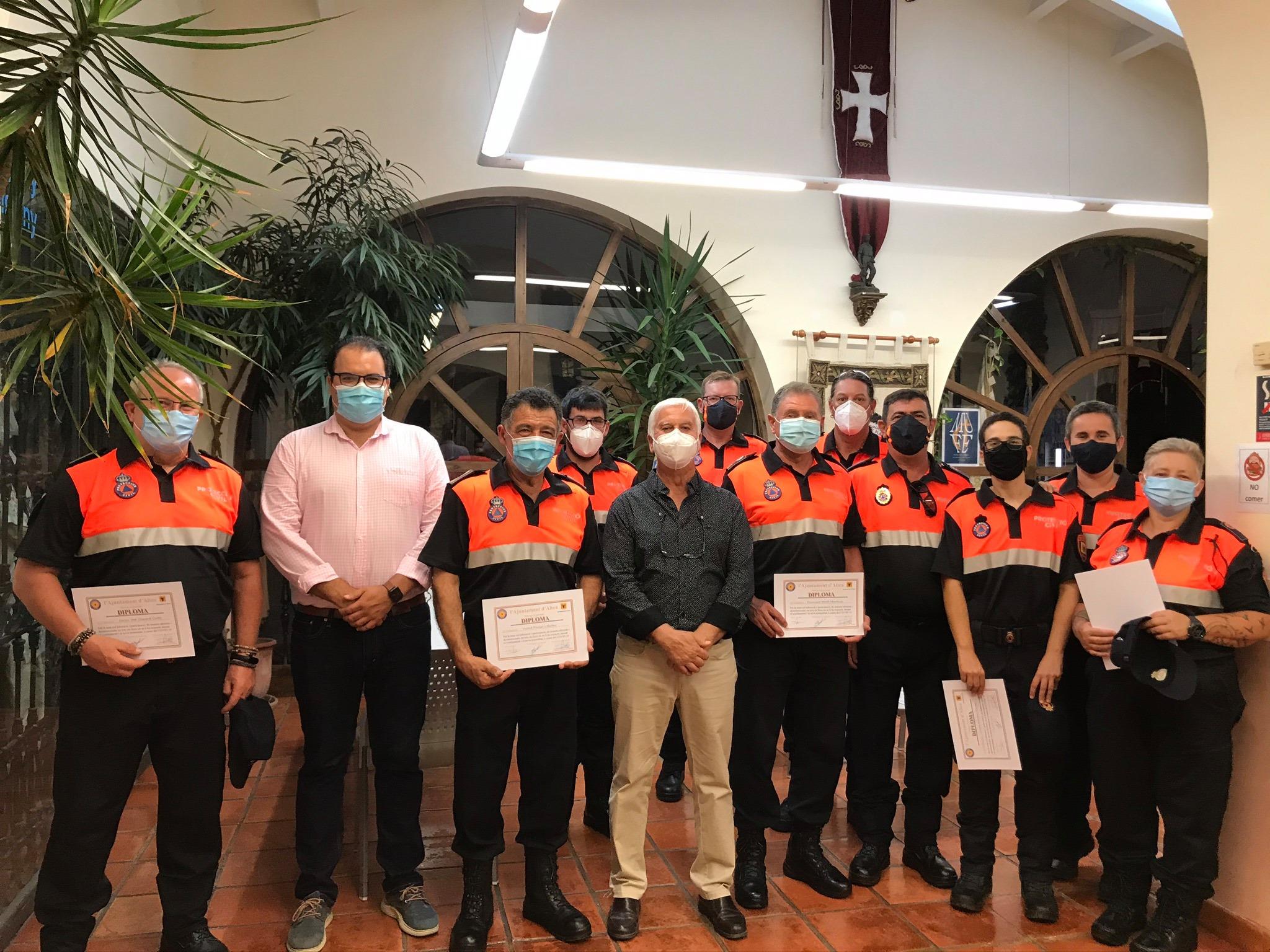 El Ayuntamiento de Altea reconoce la labor de Protección Civil durante el estado de alarma
