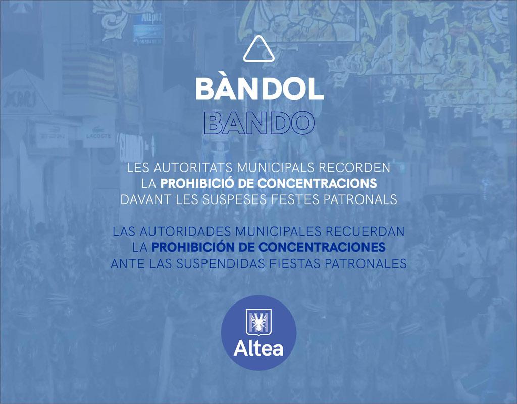 Las autoridades municipales recuerdan la prohibición de concentraciones ante la proximidad de los festivos locales