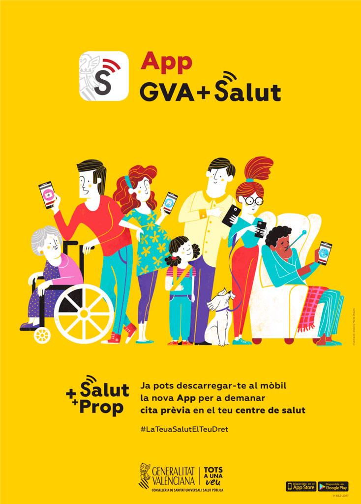 Sanitat et mostra com demanar cita prèvia a través de la 'App GVA + Salut'