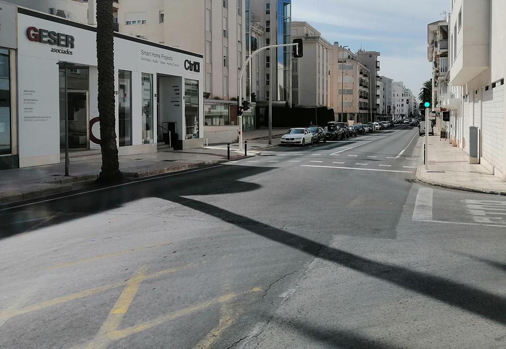 Comienzan los trabajos de reasfaltado de la N-332 a su paso por el casco urbano de Altea