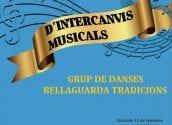 Aquest dissabte actua el Grup de Danses Bellaguarda Tradicions en la XVII Campanya de Concerts d'Intercanvis Musicals, a les 20:00 hores a la Plaça de l'Aigua. Recorda que hi ha aforament limitat, no et quedes sense la teua entrada!