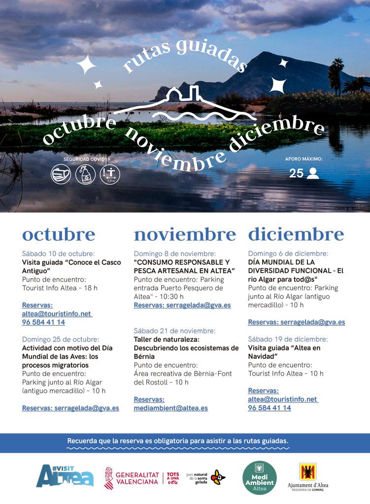 Turismo presenta la programación para los meses de otoño