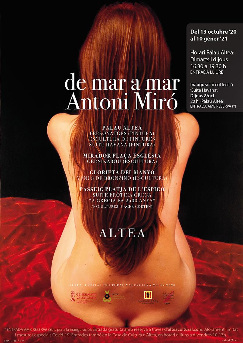 """Hasta el 10 de enero, todos los martes y jueves de 16:30 a 19:30 horas en Palau Altea, puedes disfrutar de la exposición """"Suite Havana"""" de Antoni Miró, con entrada libre"""