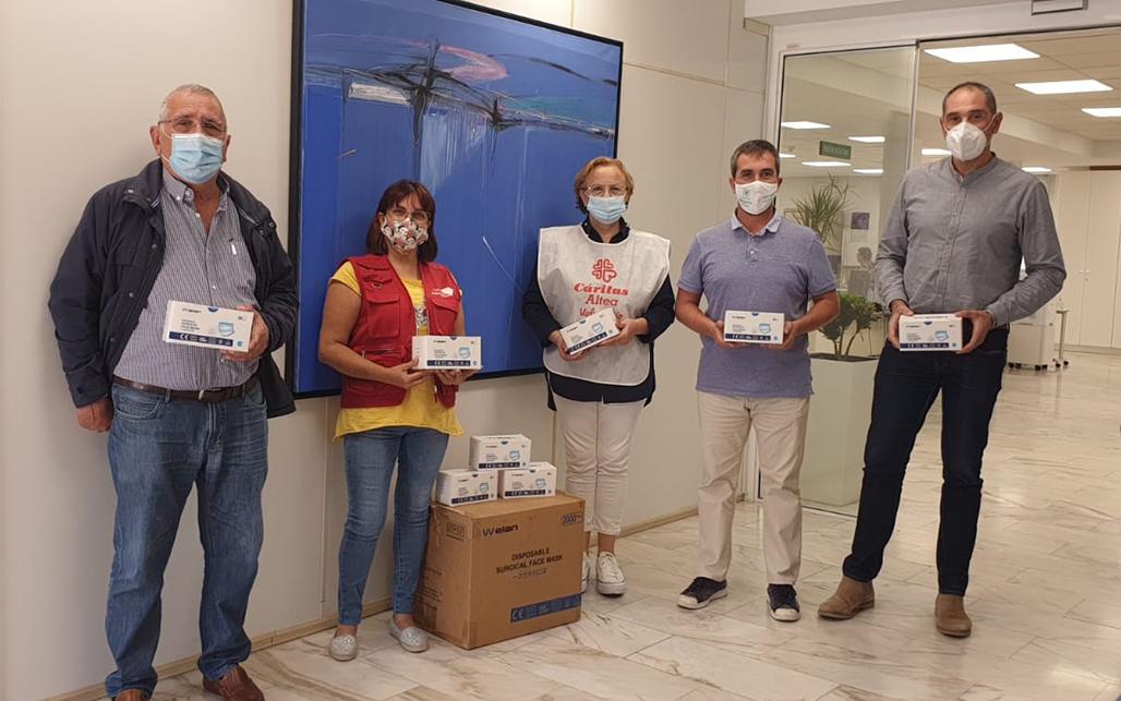 Altea recibe 6.000 mascarillas que  serán repartidas entre las familias más vulnerables
