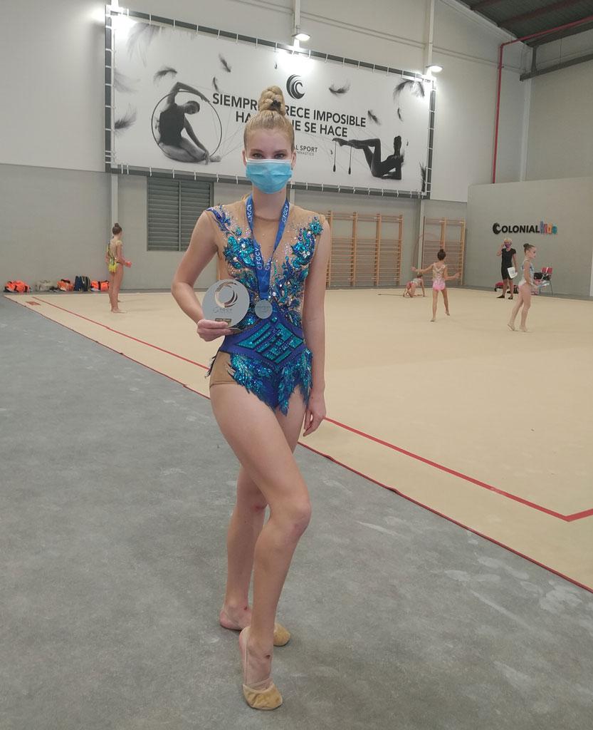 Doble títol de la gimnasta alteana Dasha Leonova en la Copa Nacional Base