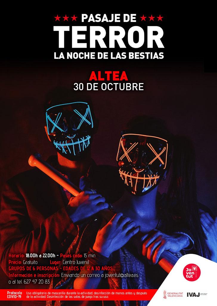 Joventut organitza un passatge de terror per a Halloween