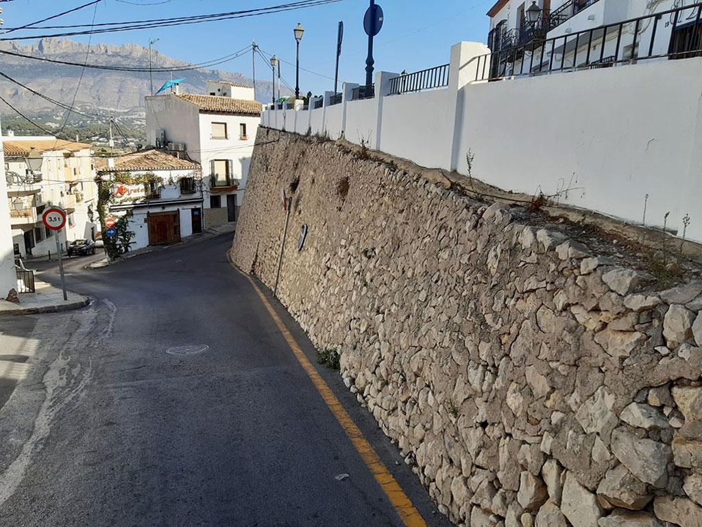 Infraestructures anuncia obres d'assentament del marge de pedra de la Costera els Maxos
