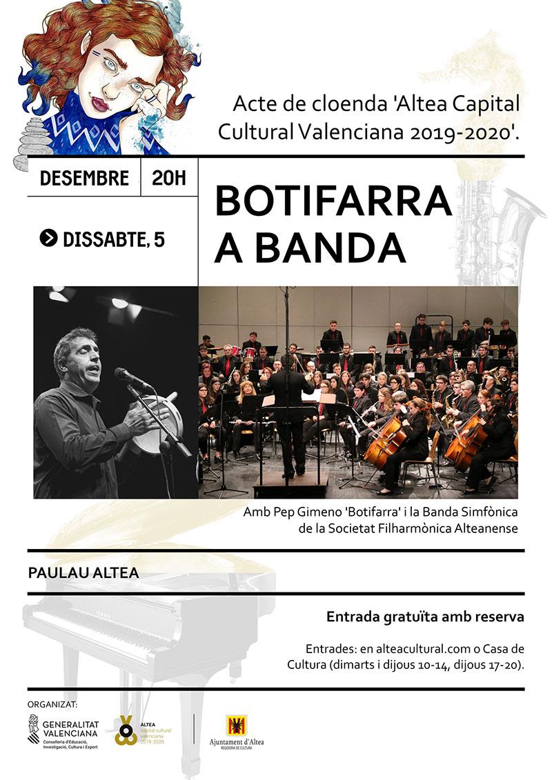 """Altea despide su Capitalidad Cultural con un concierto de Pep Gimeno """"Botifarra"""" y la SFA"""