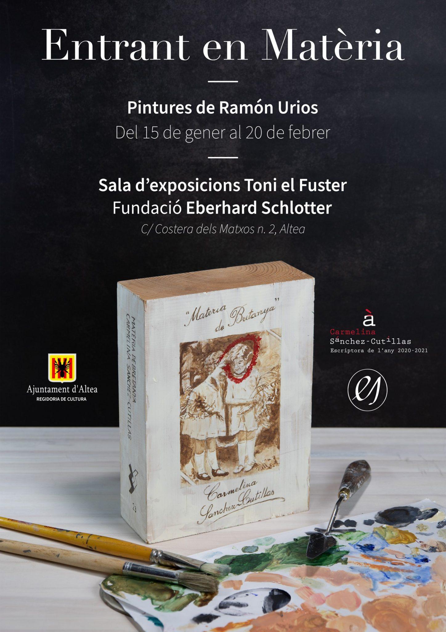 """La Casa Toni el Fuster-Fundación Schlotter acoge la exposición """"Entrant en Matèria"""" de Ramón Urios. Se podrá visitar hasta el 20 de febrero de martes a viernes en horario de 11:00 a 14:00 y de 17:00 a 20:00 y los sábados de 11:30 a 13:30h."""
