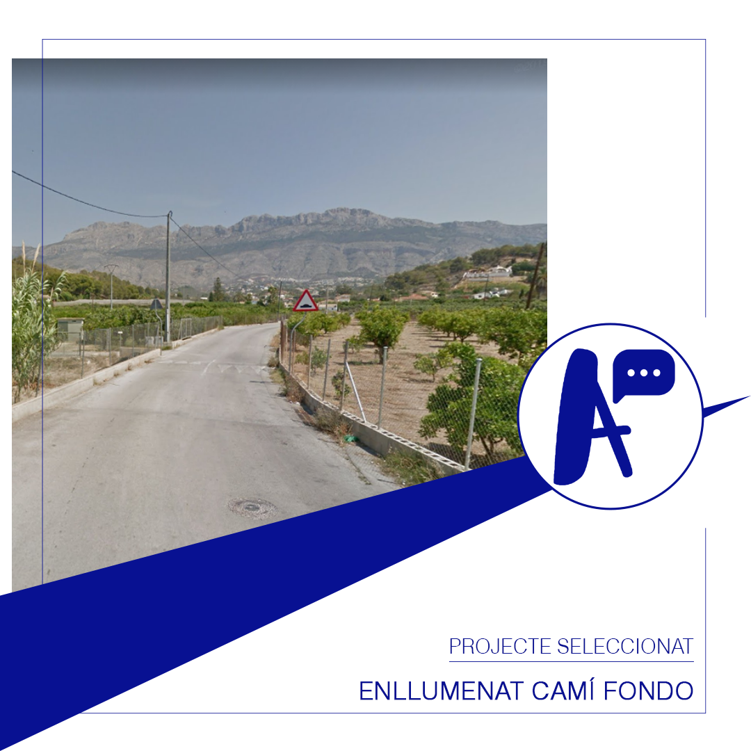 L'enllumenat del Camí fondo guanya en la votació oberta dels Pressupostos Participatius