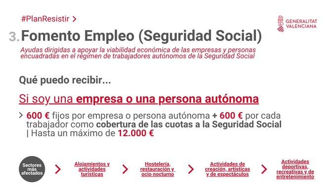 El Ayuntamiento informa de las ayudas directas de la Generalitat para los sectores más afectados por la pandemia