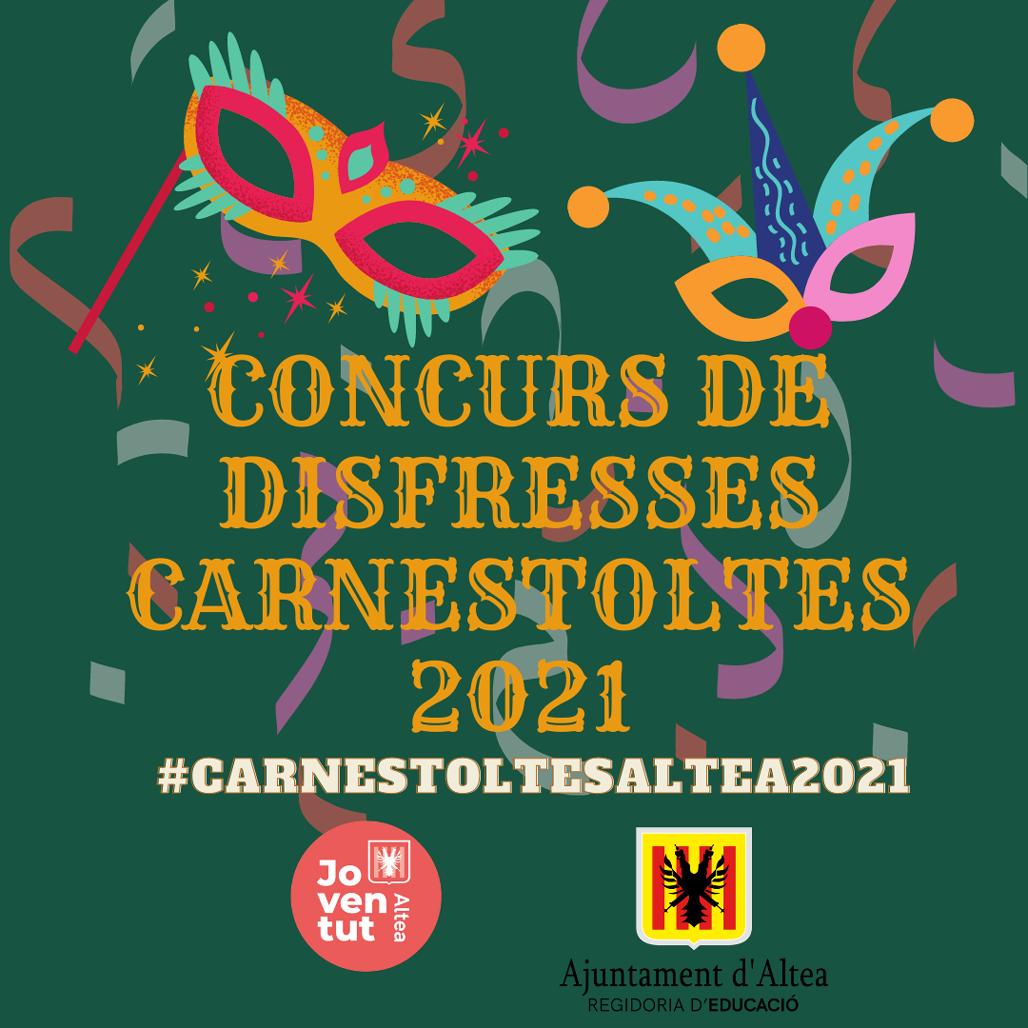 Joventut i Educació organitzen un concurs de disfresses en línia per a celebrar Carnestoltes