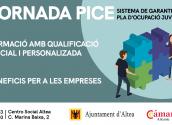 Altea rep una jornada de portes obertes sobre el programa PICE per a joves i empreses