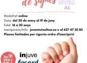 Joventut organitza un curs de nivell A1 en llengua de signes