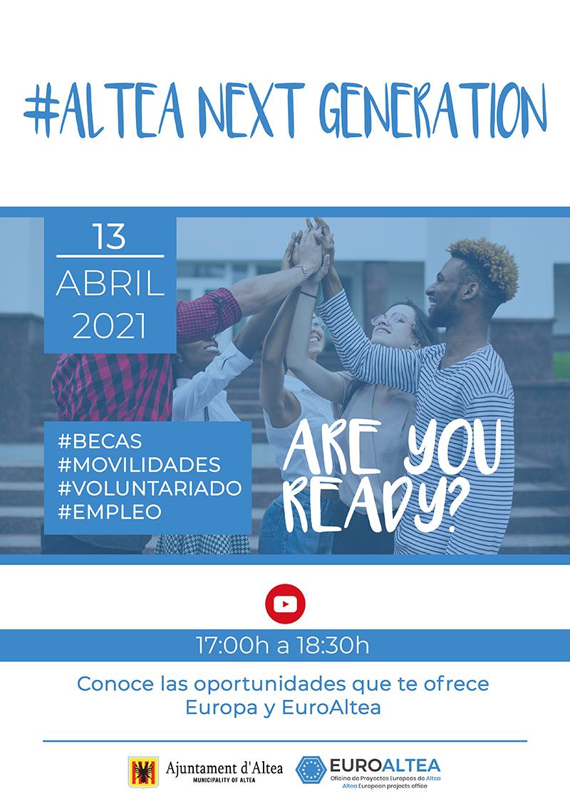 Proyectos Europeos organiza la jornada #Altea Next Generation, Europa te espera