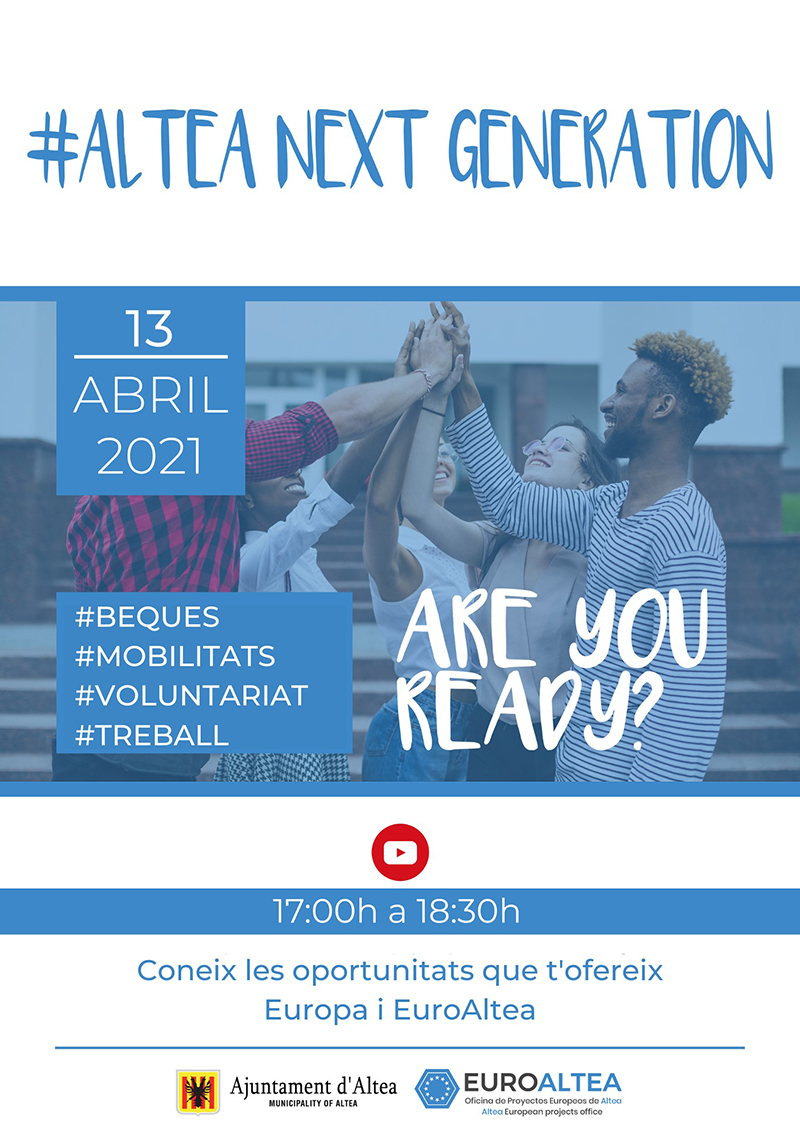 Projectes Europeus organitza la jornada #Altea Next Generation, Europa t'espera