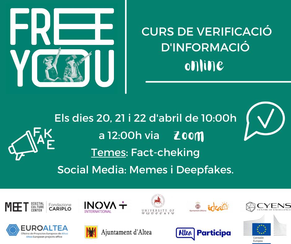 EuroAltea y Participación Ciudadana organizan el curso europeo FREE YOU