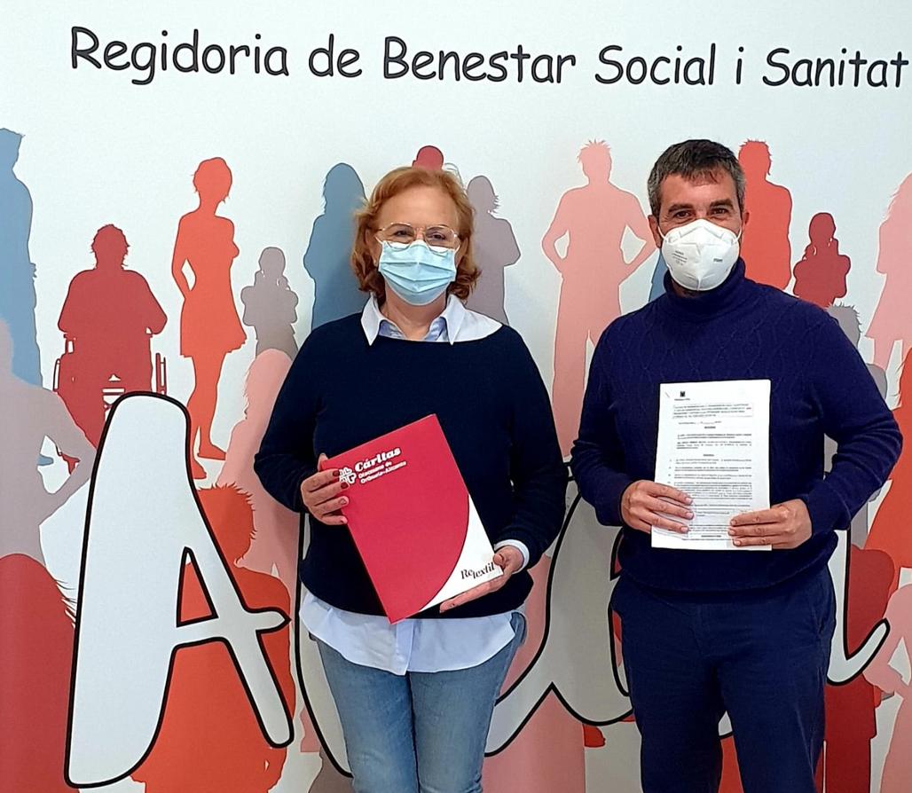 Bienestar Social y Cáritas Altea firman un nuevo convenio de colaboración para la promoción de actividades sociales