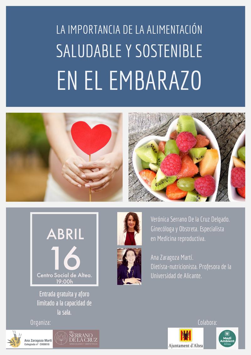 Divendres 16 d'abril a les 19 hores al Centre Social, jornada sobre nutrició i maternitat amb la col•laboració de Medi Ambient