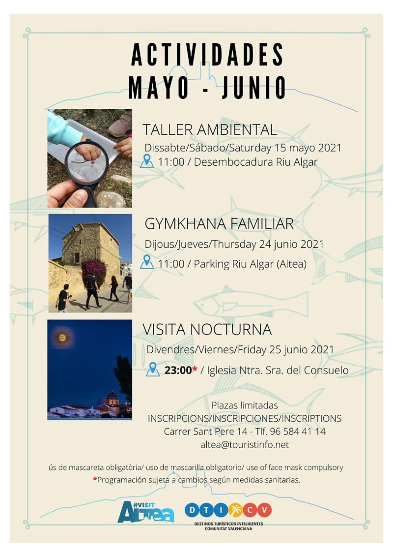 Turisme presenta noves activitats per als mesos de maig i juny
